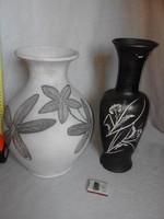 Bod Éva kerámia vázák 33, ill. 36,5 cm magasak