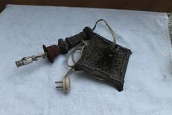 Antik barokk gyertyatartó lámpa
