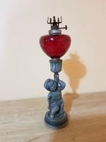 Figyelem,kiárúsítás! Antik figurális bécsi petróleum lámpa!
