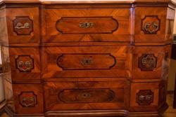 Biedermeier, berakásos, gyönyörű antik komód restaurálva, hibátlan állapotban eladó