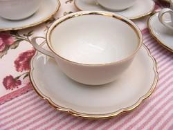 Bavaria csodaszép 6 személyes, 12 darabos porcelán teás készlet, újszerű állapotban akár ajándékozni