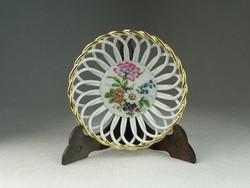 0N539 Régi áttört fonatos porcelán kosár