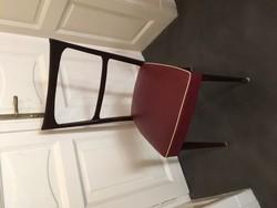6 db - minden részletében eredeti art deco étkező szék