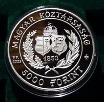 5000 Forint Bp. 2003 PP. Ag. 31,46 g. Kapszulában.