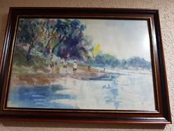 Halápy János akvarell