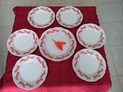 Új pajzspecsetes Zsolnay ritka régi süteményeskészlet