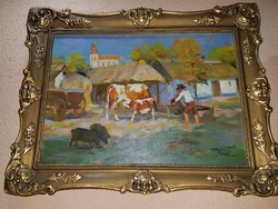 Hódi Géza festmény