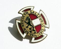 Monarchiás Salzburg Hadsegélyező zománc jelvény