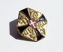 Monarchiás hivatalos Fekete-Sárga Kereszt jelvény