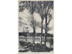 """Bordás Ferenc : """"Három fa"""" 1955"""