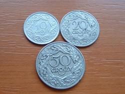 LENGYEL 10 + 20 + 50 GROSZY 1923 3 DB